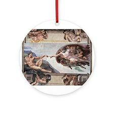 The Creation of Adam Ornament (Round)