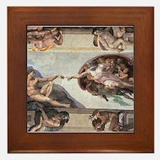 The Creation of Adam Framed Tile