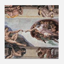 The Creation of Adam Tile Coaster