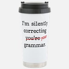 Correcting grammar Travel Mug
