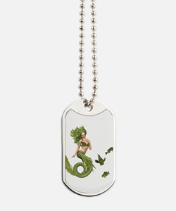 Green Mermaid Dog Tags