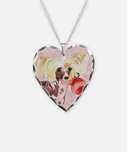 Chinese Crested Rose Necklace