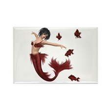 Red Mermaid Magnets