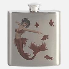 Red Mermaid Flask