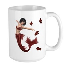 Red Mermaid Mugs