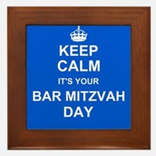 Keep Calm its your Bar Mitzvah day Framed Tile