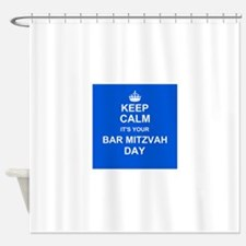 Keep Calm its your Bar Mitzvah day Shower Curtain