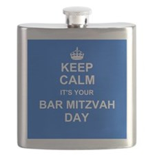 Keep Calm its your Bar Mitzvah day Flask