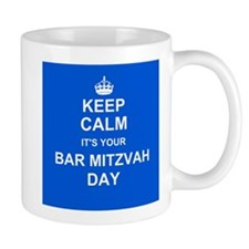 Keep Calm its your Bar Mitzvah day Mugs