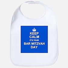 Keep Calm its your Bar Mitzvah day Bib