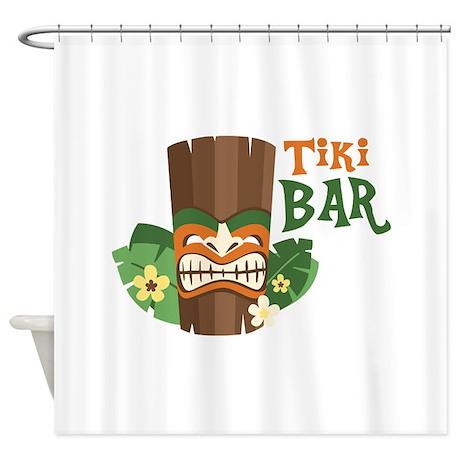 Tiki Bar Shower Curtain By Hopscotch6