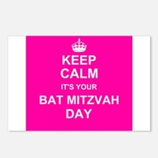 Keep Calm its your Bat Mitzvah day Postcards (Pack