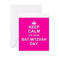 Keep Calm its your Bat Mitzvah day Greeting Cards