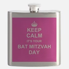 Keep Calm its your Bat Mitzvah day Flask