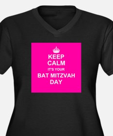Keep Calm its your Bat Mitzvah day Plus Size T-Shi
