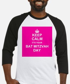 Keep Calm its your Bat Mitzvah day Baseball Jersey