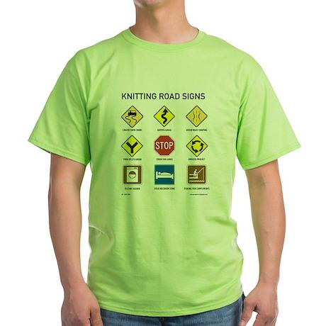 Knitting Road Signs T-Shirt