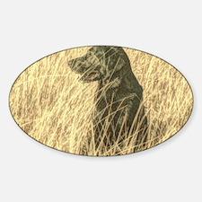 country landscape black labrador Decal