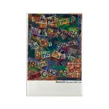 Ransom Note Art Quilt Rectangle Magnet
