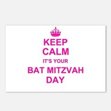 Keep Calm its your Bat Mitzvah Postcards (Package