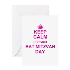 Keep Calm its your Bat Mitzvah Greeting Cards