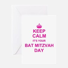Keep Calm its your Bat Mitzvah Greeting Cards