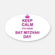 Keep Calm its your Bat Mitzvah Oval Car Magnet
