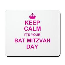Keep Calm its your Bat Mitzvah Mousepad