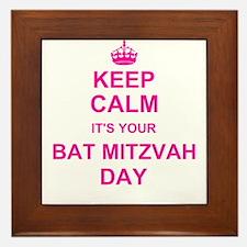 Keep Calm its your Bat Mitzvah Framed Tile