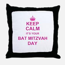 Keep Calm its your Bat Mitzvah Throw Pillow