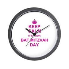 Keep Calm its your Bat Mitzvah Wall Clock