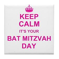 Keep Calm its your Bat Mitzvah Tile Coaster