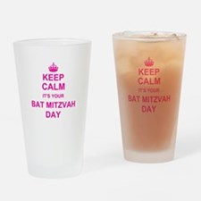 Keep Calm its your Bat Mitzvah Drinking Glass