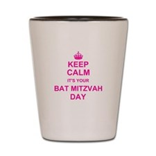 Keep Calm its your Bat Mitzvah Shot Glass