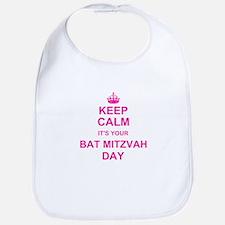 Keep Calm its your Bat Mitzvah Bib