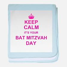 Keep Calm its your Bat Mitzvah baby blanket