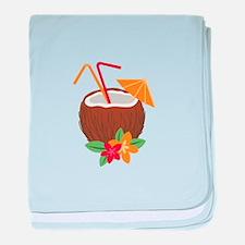 Tropical Coconut Drink baby blanket