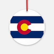 Colorado State Flag Ornament (Round)