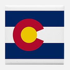 Colorado State Flag Tile Coaster