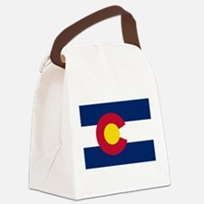 Colorado State Flag Canvas Lunch Bag