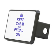 Keep Calm and Pedal on Hitch Cover