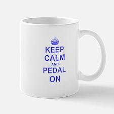 Keep Calm and Pedal on Mugs