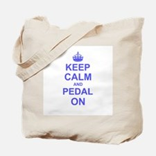 Keep Calm and Pedal on Tote Bag