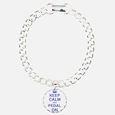 Keep Calm and Pedal on Bracelet