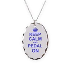 Keep Calm and Pedal on Necklace