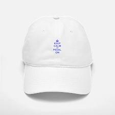 Keep Calm and Pedal on Baseball Baseball Cap