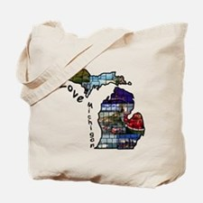 Love Michigan Tote Bag