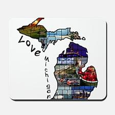 Love Michigan Mousepad