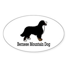 Bernese Mt. Dog Oval Decal