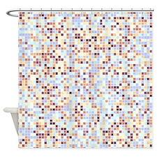 Playfull Lavender Patterned Shower Curtain